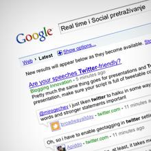 Google Rea-time i Social pretraživanje
