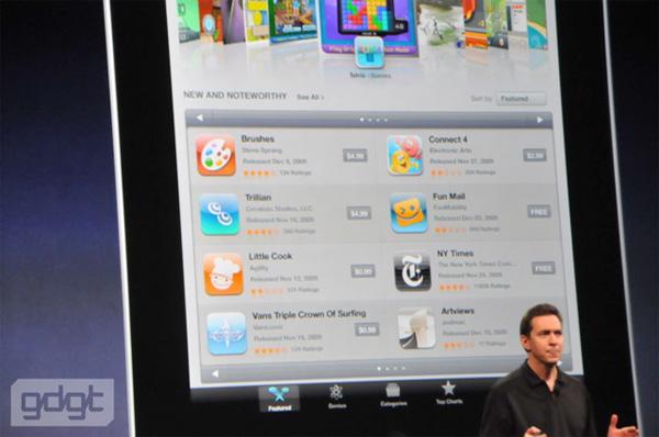 Apple iTunes dućan prilagođen iPadu