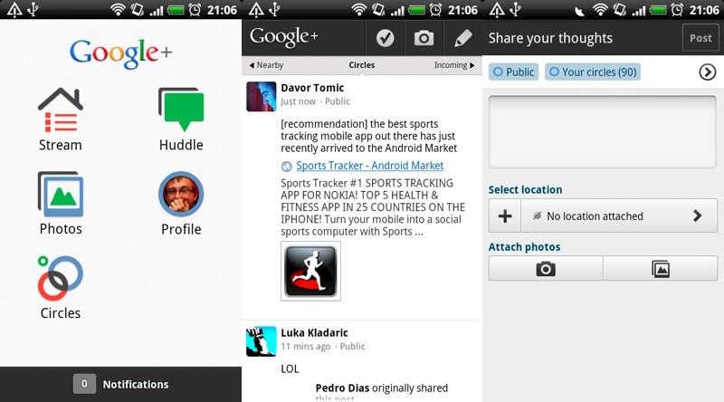 google plus aplikacija za upoznavanje