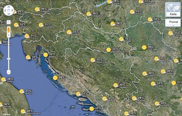 google karta Prognoza vremena odsad uključena u Google Karte — Netokracija google karta