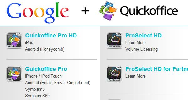 Quick Office sada je besplatan za sve s Googleovim korisničkim računom