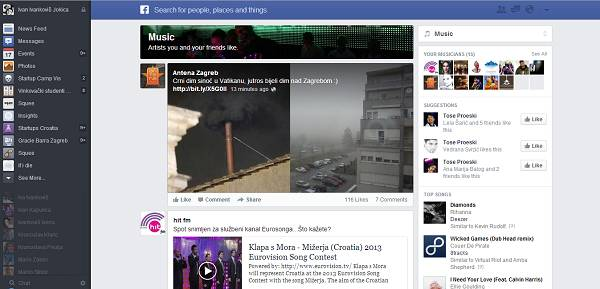 Poseban news feed - glazba