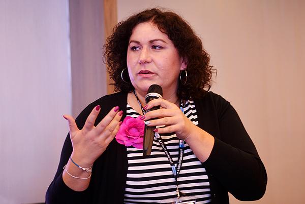 Marina Đukanović iz Kolektive odgovorila je na pitanja publike (Snimila: Marina Filipović Marinshe)