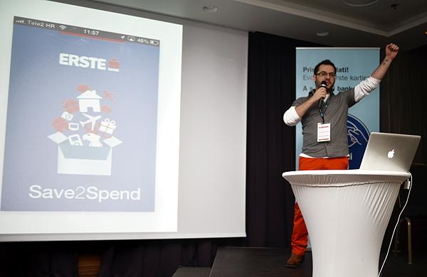 Gasper Sopi predstavlja aplikaciju Save2Spend (Snimila: Marina Filipović Marinshe)