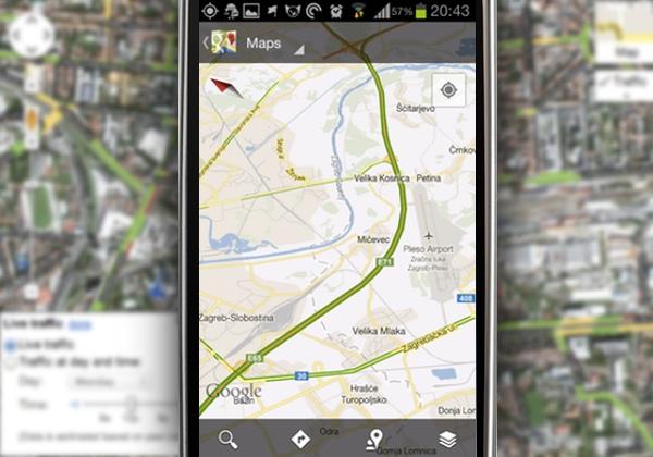 Google Maps Live Traffic za Zagreb!