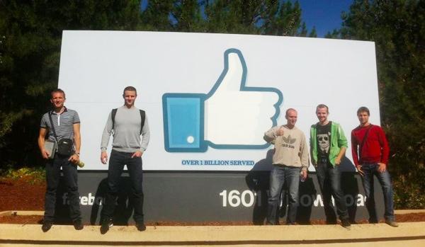 WhoAPI-jevci u posjetu Facebooku (Iz osobnog arhiva Edija Budimilića)