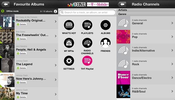 Deezer aplikacija za iOS