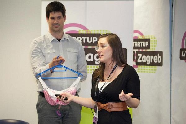 Anin upečatljivi pitch (slika: Startup Live Zagreb)