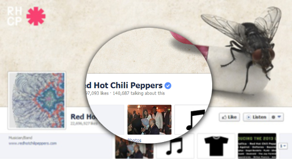 Primjer verificirane Facebook stranice