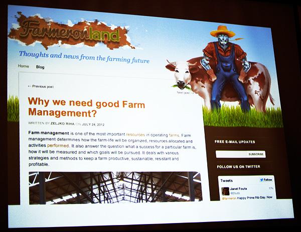Farmeronov blog na kojem se prate najnoviji trendovi farmera  (Snimila Marina Filipović Marinshe)