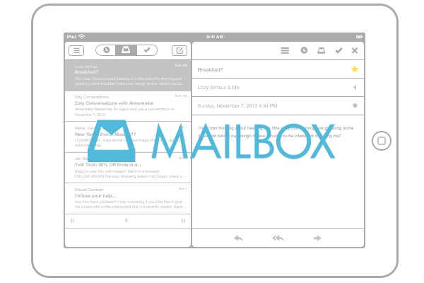 how to open mailbox on ipad