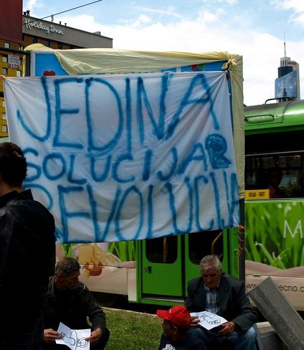 Prosvjedi u Sarajevu (fotografija: Emina Hodžić)