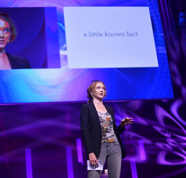 Lily Cole na LeWebu predstavlja društvenu mrežu Impossible (fotografija: Marina FIlipović Marinshe)