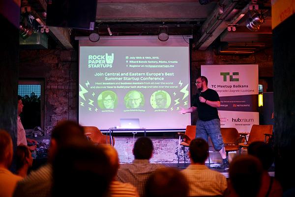 Ivan Brezak Brkan pozvao je sudionike TC Balkansa na konferenciju RockPaperStartup u Rijeci. (Fotografija: Marina Filipović Marinshe)
