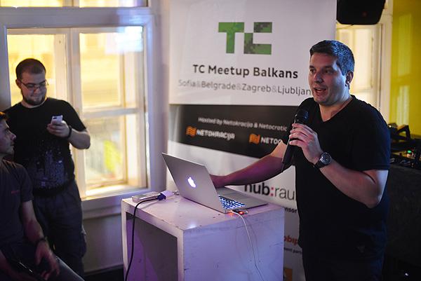 """John Biggs objašnjava zagrebačkim startupima """"recept"""" za uspjeh. (Fotografija: Marina Filipović Marinshe)"""