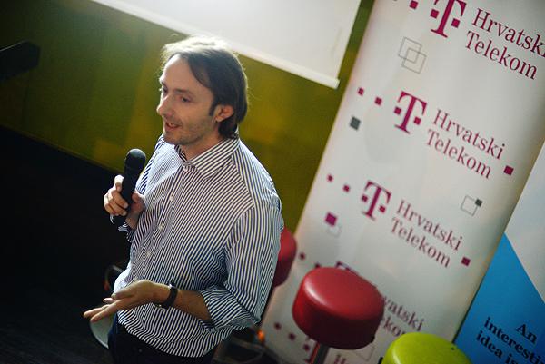 Boris Drilo iz HT-a objasnio je kako ova tvrtka putem hub:raum akceleratora želi ponuditi konkretnu pomoć mladim poduzetnicima iz Hrvatske. (Fotografija: Marina Filipović Marinshe)