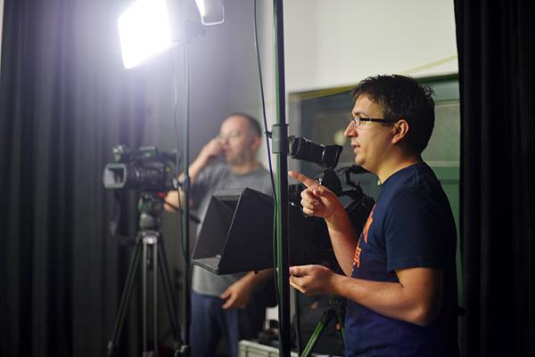 Vlado Lucić na setu News Bar TV-a (Fotografija: Marina Filipović Marinshe)