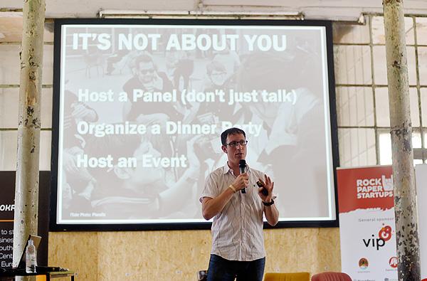 Jared Goralnick govorio je o važnosti odnosa na konferenciji RockPaperStartups (snimila: Marina Filipović Marinshe)