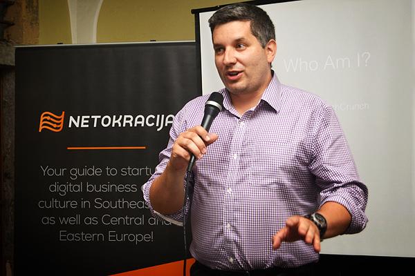 John Biggs, jedan od urednika na TechCrunchu, predstavio se Ljubljani, a i Ljubljana njemu (Fotografija: Marina Filipović Marinshe)