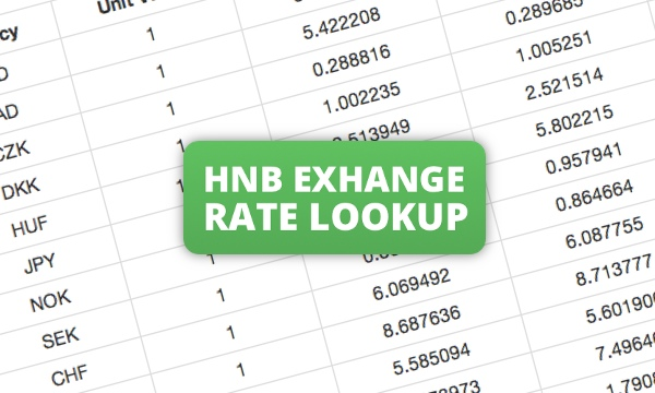 Hnb forex rate