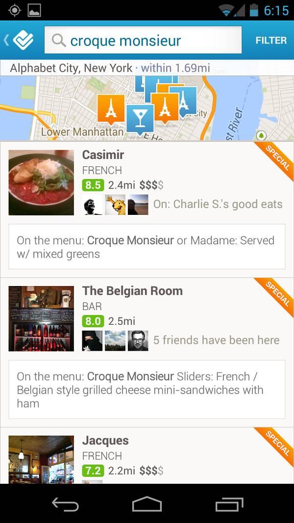 Jede vam se određeno jelo? Nema problema, potražite ga na Foursquareu!
