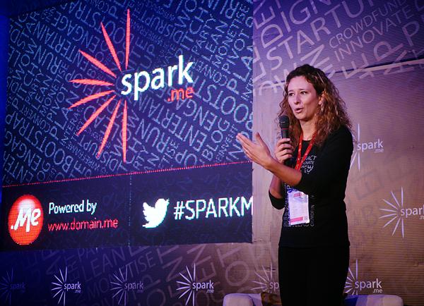 Nataša Đukanović, Domain.me, otvara prošlogodišnju konferenciju Spark.me. (snimila: Marina Filipović Marinshe)