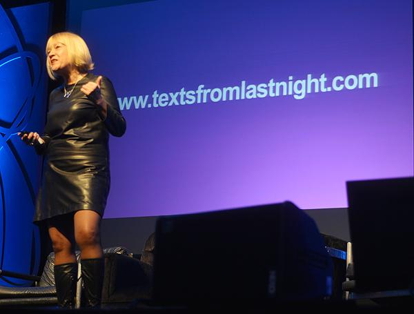 Cindy Gallop: Mislite da vaši korisnici nisu iracionalni? Zavirite na Texts from last night. (snimila: Marina Filipović Marinshe)