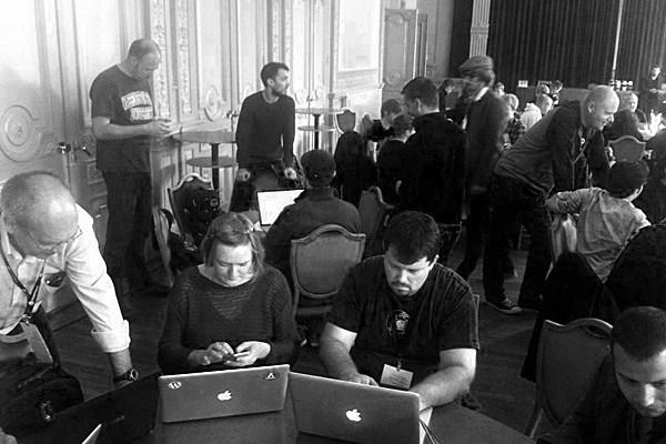 Emanuel Blagonić na Wordcampu (slika: Lucijan Blagonić)