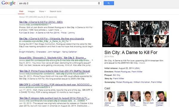 Na stranici pretrage sada se izravno pokazuju i informacije skupljene s različitih stranica- možda i vaše