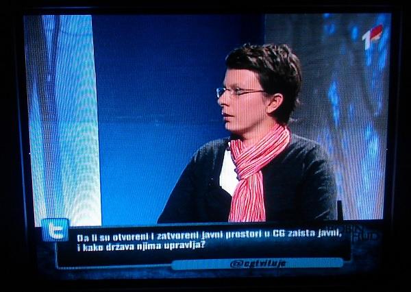 Televizijsko praćenje prvog tvita Bojane Gligorić na @cgtvituje.