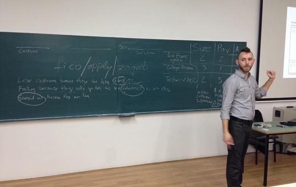 Justin Wilcox prilikom posjete Zagrebu u organizaciji Founder Institutea.