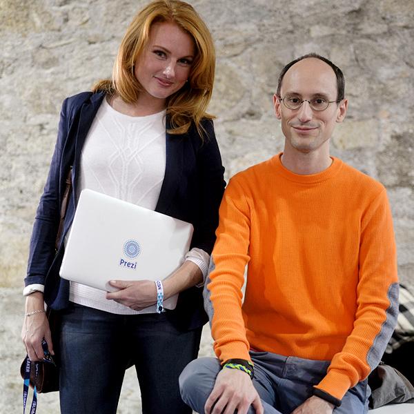 Kelly i Peter Arvai iz tvrtke Prezi poziraju za Netokraciju (Snimila Marinshe)