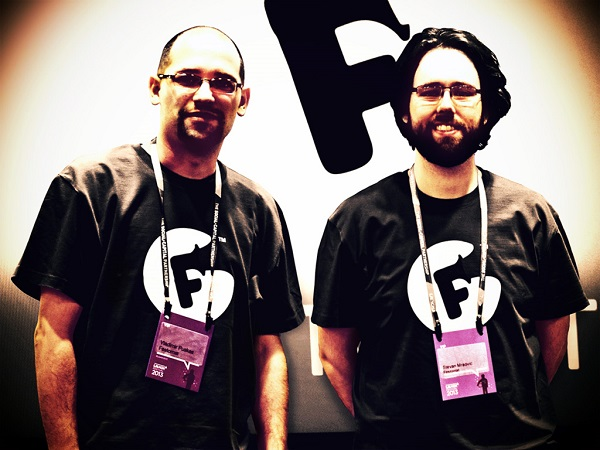 Vladimir Puškaš (CEO) i Stevan Mraović (CTO) Festomata.