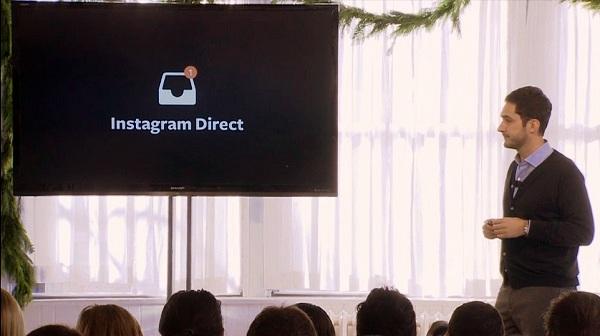 Kevin Systrom predstavlja mogućnost privatnog komuniciranja korisnika Instagrama.