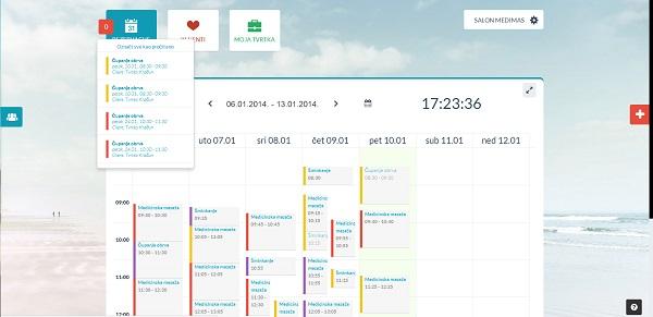 Kalendar nudi lak pregled i filtriranje termina, kao i detalje o njima.