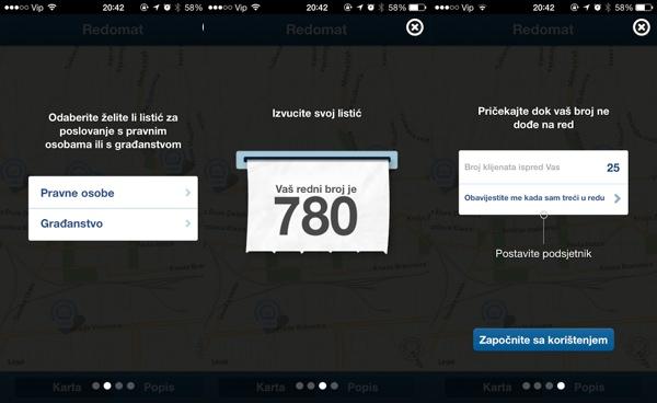 Vodič pri prvom korištenju aplikacije daje vam sve detalje.