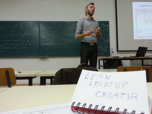 Predavanje o Lean Startupu u organizaciji Founder Institutea Zagreb.