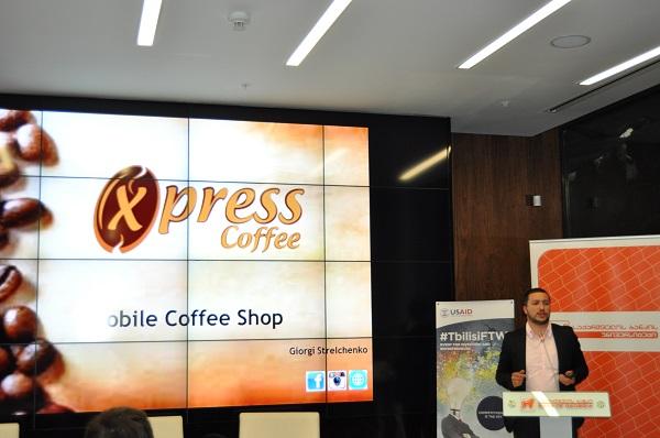 Xpress coffe pitchao je svoj štand s kavom