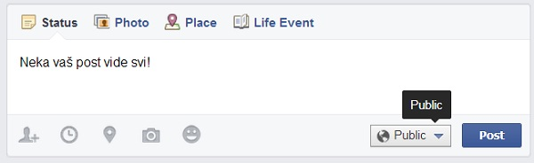Facebook post poplave