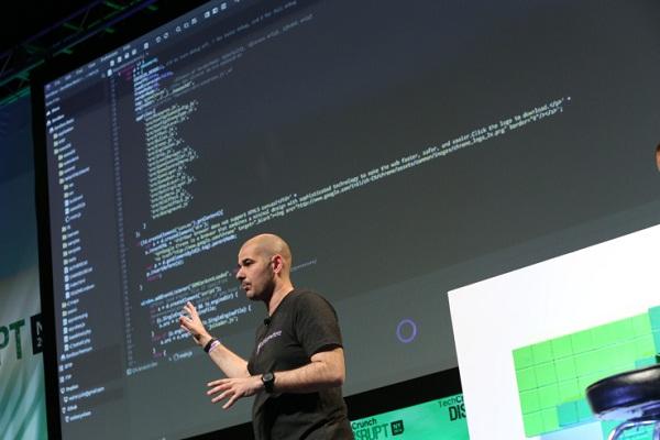Ivan Burazin predstavlja CodeAnywhere u New Yorku (slika: TechCrunch)