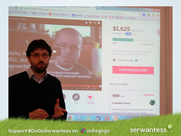 E-Glas putem Indiegogo kampanje želi osigurati Serwantess sustav osobama kojima je on uistinu potreban