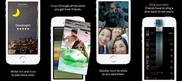 Da biste na Slingshotu pogledali pristiglu poruku, morate prvo odgovoriti slikom ili videom.