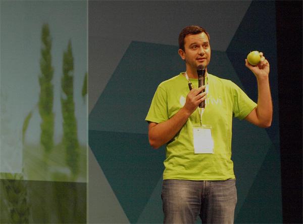 Matija Žulj na natjecanju startupa u sklopu Shift konferencije (slika: Janez Klemenčič)