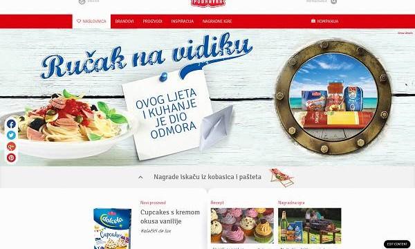 Podravka homepage