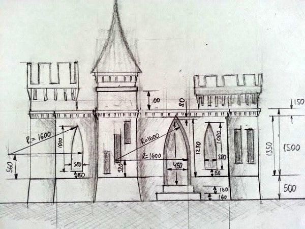 Nacrt dvorca.