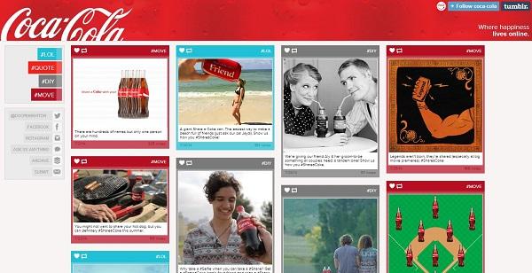 Coca-Cola se najviše oslanja na vizualnu prezentaciju.