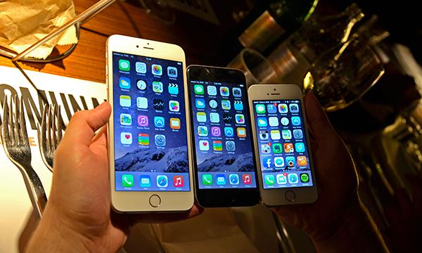 iPhone 6 Plus, iPhone 6 i iPhone 5S - poređenje veličine