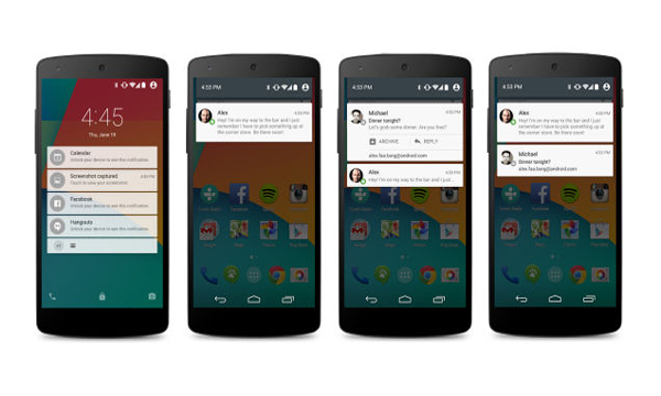 Izgled Android 5.0 na Novim Nexus 6 uređajima za čiju je izradu bila zadužena Motorola.