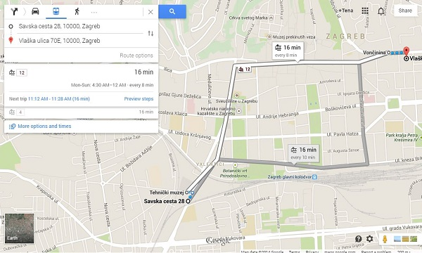 Dočekali smo javni prijevoz na Google Transitu - hoćemo li od ZET-a dočekati i informacije u stvarnom vremenu?
