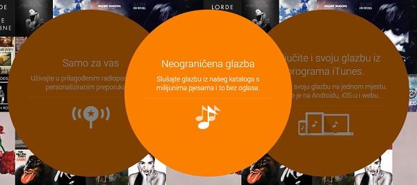 Google Play Music omogućuje i preslušavanje glazbe, ali i kupovinu.